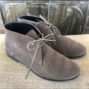 Gray suede lace up booties Franco Sarto boots